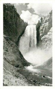 WY, Yellowstone National Park, Wyoming, Lower Falls, Haynes, RPPC