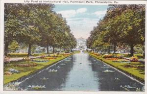 Pennsylvania Philadelphia Lily Pond At Horticultural Hall Fairmount Park