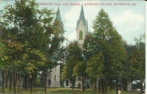 Barrister Hall And Chapel, Bowdoin College, Brunswick, Me