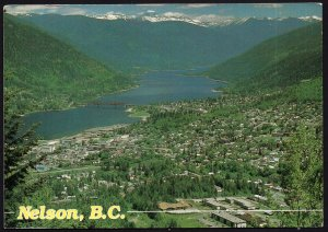 British Columbia ~ NELSON Panoramic View Kootenays pm1996 - Cont'l 1980s-1990s