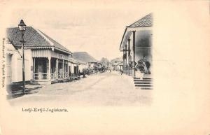 Jogiakarta Indonesia Lodji Ketjil Street Scene Antique Postcard J61039