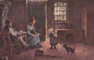 Tucks Family Scene Flemish Cottage Homes Series V 9036