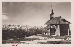 RP: Chapel in Snowy Mountains, Schmittenhohe Elisabethkapelle mit Venedigergr...