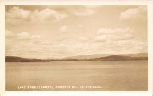 New Hampshire~Lake Winnipesaukee Chocorua Mt In Distance~Real Photo Postcard