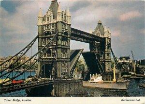 England Postcard London opening Tower Bridge image ferryboat