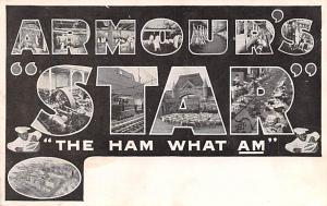 Advertising Post Card Armour's Star The Ham What Am Unused