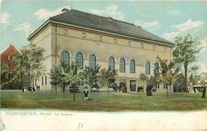 Worcester Massachusetts~Kid Stands In Front of Art Museum~1910 TUCK Postcard