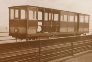 Southend On Sea Toastrack Winter Car Carriage Train in 1922 Postcard