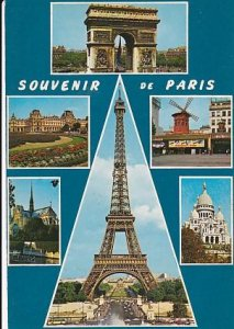 POSTAL B01646: Souvenir de Paris.