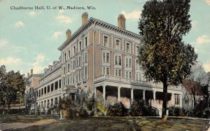 LP60 Madison Wisconsin Vintage Postcard University Chadburne Hall