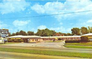 Fort Smith AR Flamingo Capri Motel Interior Exterior View Old Cars Postcard
