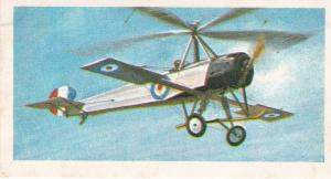 Trade Card Brooke Bond Tea History of Aviation black back reprint No 13  Cierva