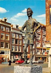 Netherlands Amsterdam Amsterdamsche Jochie Statue Auto Cars