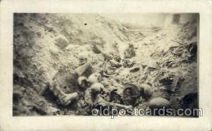 Trench near Rhenus France 1917-1918 Skulls Postcard Post Card  Trench near Rh...