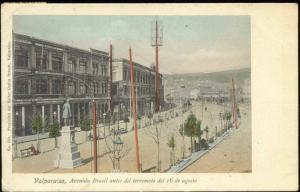 chile, VALPARAISO, Avenida Brasil Monument (1910s) Brandt 530