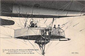 La Nacelle du Dirigeagle Militaire La Republique Zeppelin Unused