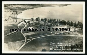 1060 - WABEE LAKE Indiana 1920s Camp Alexander Mack. Real Photo PC by Becknell