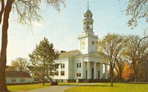 Concord Massachusetts~First Parish Church~Clock Tower~Cupola~Neighborhood~1960s