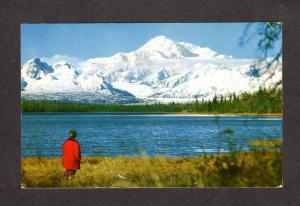 AK Mt Mount McKinley Mountain Susitna Valley Ruth Glacier Alaska Postcard