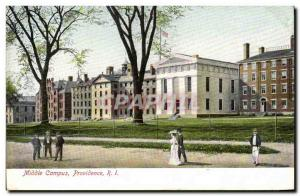 Postcard Old Providence Campus Middle R I