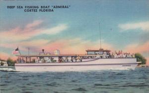 Florida Cortez Deep Sea Fishing Boat Admiral 1954