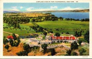 New York Fort Ticonderoga Airplane View Curteich