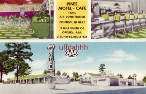 PINES MOTEL and CAFE OPELIKA, AL.