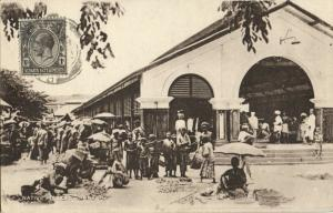 straits settlements, Malay Malaysia, PENANG, Native Market (1910s) Tuck Postcard