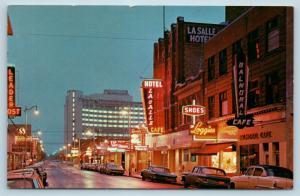 Postcard Canada Saskatchewan Regina Hamilton Street 1960s Cars Street View Q9