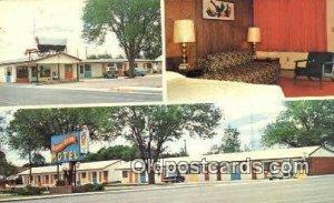 Covered Wagon Motel, So. Lusk, WY, USA Motel Hotel 1968 wear left top corner....