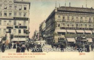 Berlin Germany, Deutschland Postcard Unter den Linden, Blick in die Friedrich...