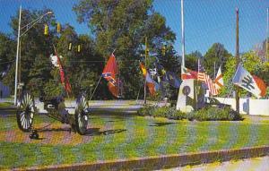 South Carolina Abbeville Flying Flags At North Main and Greenville Street