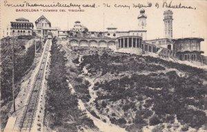 BARCELONA, Cataluna, Spain, PU-1920; Cumbre Del Tibidabo