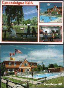 (2) New York CANANDAIGUA KOA 5374 Farmington Townline Rd Fingers Lakes - Cont'l