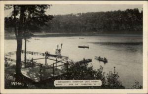 Kingston AK Schroeder's Resort Swimming Old Postcard