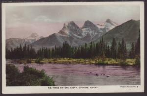 The Three Sisters,Canmore,Alberta,Canada Postcard