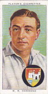 Player Vintage Cigarette Card Cricketers 1938 No 12 W R Hammond Gloucestershi...