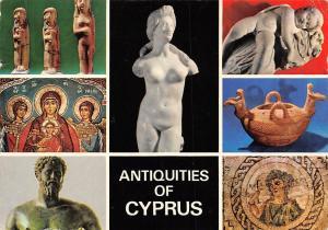 Cyprus Anitquities, Marble Statue of Aphrodite Terracota Female Figurines
