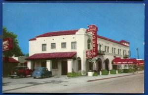 EL Paso Texas tx Del Camino Courts cafe restaurant postcard
