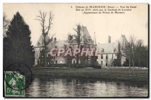 Old Postcard Marchais View From Canal Cardinal of Lorraine Monaco
