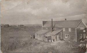 People Farmhouse Rural Farm Scene Vermilion AB ?? Real Photo Postcard G82 *as is