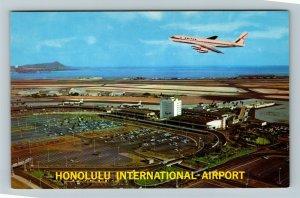 Honolulu HI-Hawaii, Honolulu International Airport, Chrome Postcard