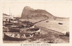 GIBRALTAR, 1900-1910´s; The Rock From Spanish Beach