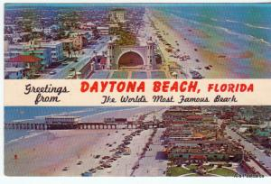Greetings from Daytona Beach, FL Florida - Unposted Chrome Postcard (A50)