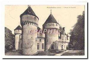 Malesherbes Old Postcard Chateau de Rouville