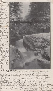 MILFORD, Pennsylvania, PU-1907; Picnic Rock on Sawkill Creek
