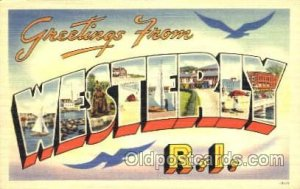 Greetings From Westerly, Rhode Island, USA Large Letter Town Towns Postcard P...