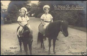 prussia, Prince Wilhelm and Prince Louis Ferdinand 1911