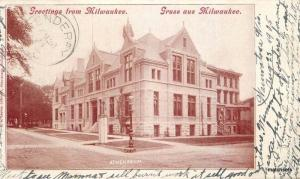 1905 Milwaukee Wisconsin Athenaeum undivided postcard 2989