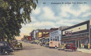 Georgia Athens Washington Street Looking  East